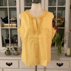 Talbots Petite stretch sleeveless blouse